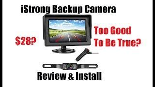 iStrong $28 Backup Camera Install & Review