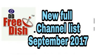 dd free dish new full channel list September 2017