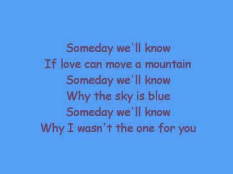 Someday we'll know- Paolo santos
