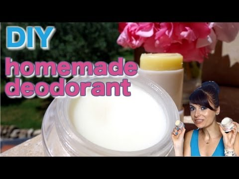 DIY homemade natural stick & cream deodorants
