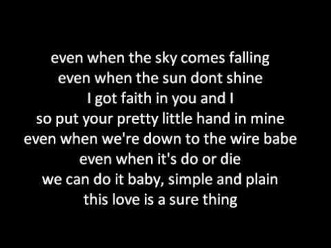 Miguel Sure Thing W Lyrics Youtube