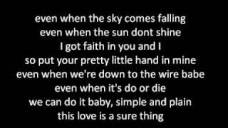 Miguel - Sure thing w/lyrics