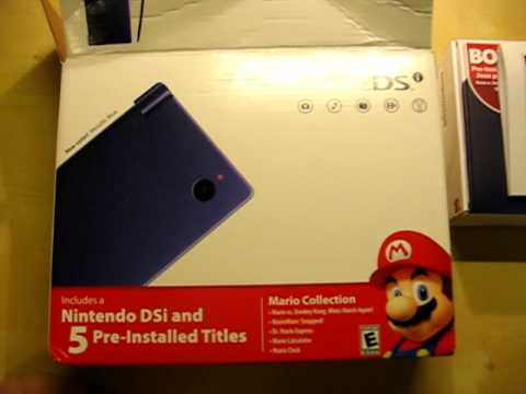 nintendo dsi metallic blue mario bundle