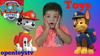 Paw Patrol Toys Surprise With Chase and Marshal From Nick Jr. toy for kids OPENTOYSTV