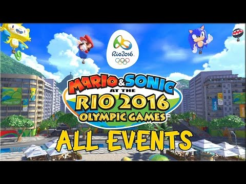 Mario and Sonic at the Rio 2016 Olympic Games [Wii U] - ALL EVENTS