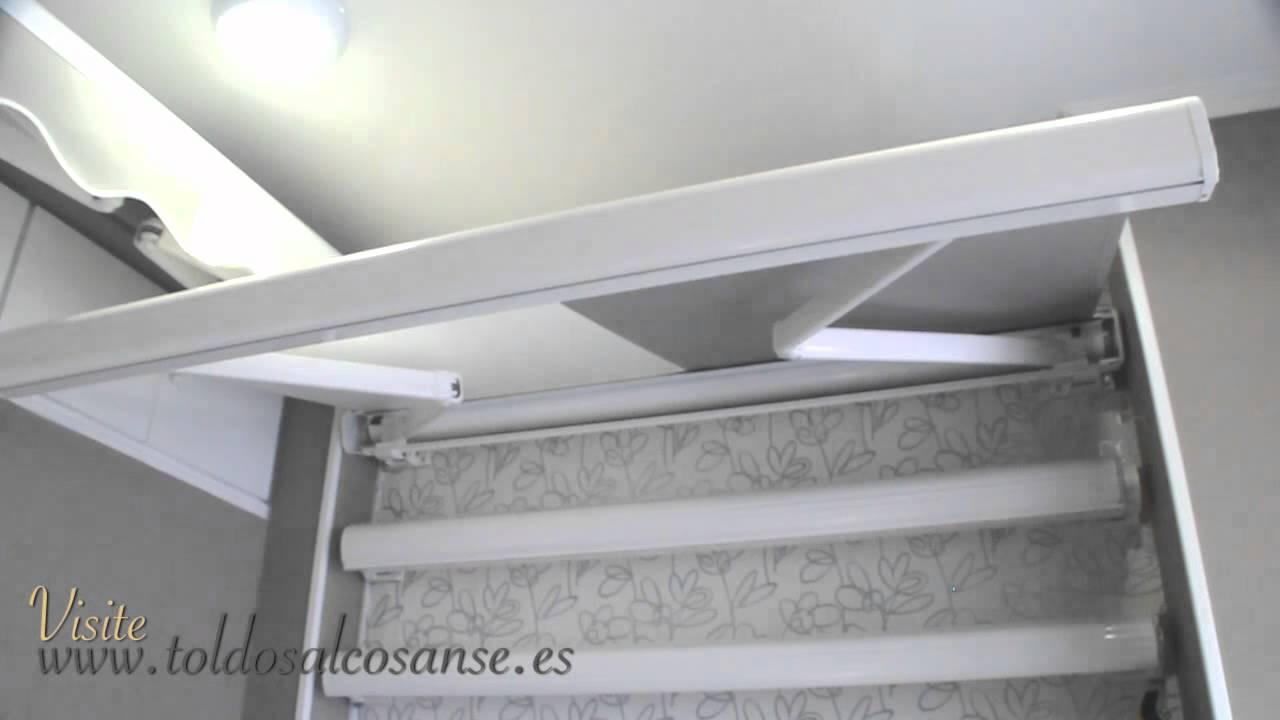 Toldos para ticos y toldos para terrazas en madrid youtube for Toldos verticales para terrazas