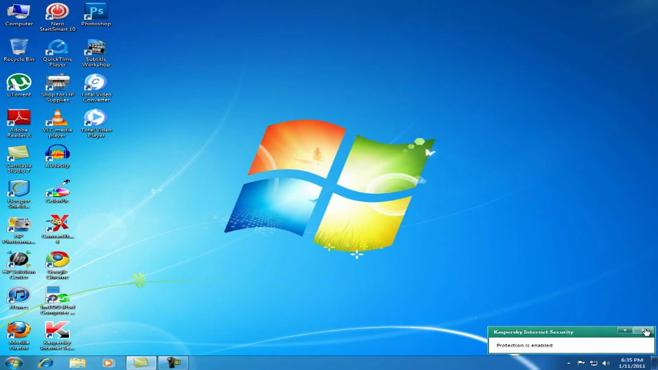 Windows 7 Default Desktop Icons ACCESS   On Windows 7