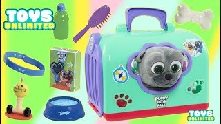 Disney Junior Puppy Dog Pals Groom And Go Bingo Pay Set Bath and Grooming!
