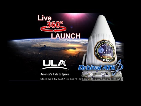 World's First Live 360 Rocket Launch: Orbital ATK CRS-7