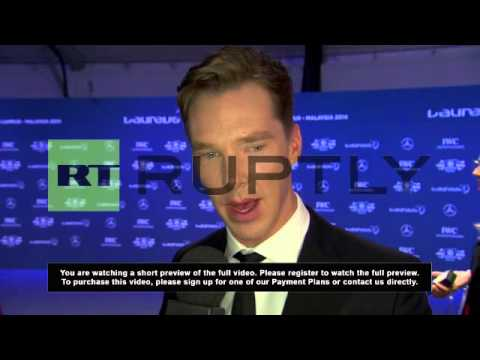 Malaysia: Sports stars and Benedict Cumberbatch unite for Laureus Awards