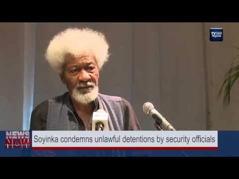 Soyinka condemns unlawful detentions by security officials; calls Fayose a thug