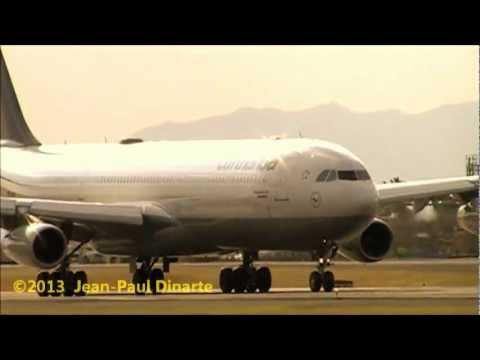 Lufthansa A340-300 (llegada al Coco - MROC / SJO Costa Rica)