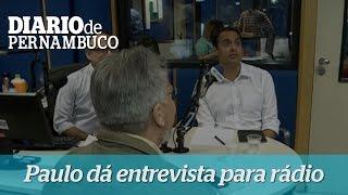 Paulo d� entrevista a emissora de r�dio em Santo Amaro
