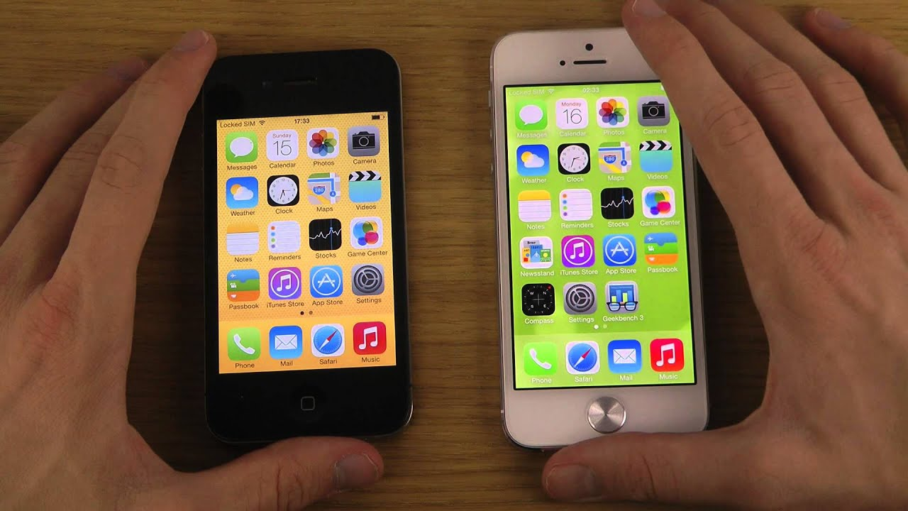 iPhone 5 iOS 7 GM vs. iPhone 4 iOS 7 GM - Opening Apps ...