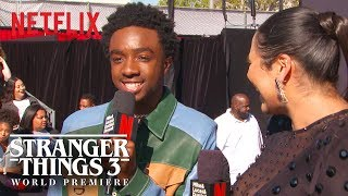 Caleb McLaughlin | Stranger Things 3 Premiere | Netflix
