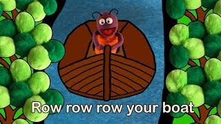 Songs with the Boogiebug   ROW ROW ROW YOUR BOAT   Nursery Rhymes   Preschool Learning