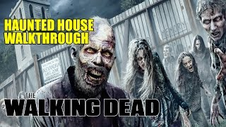 The Walking Dead Haunted House Walkthrough Halloween Horror Nights Univesal Hollywood 2016