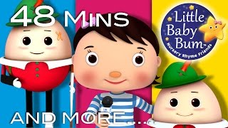 Humpty Dumpty | Part 2 | Plus Lots More Nursery Rhymes | 48 Mins Compilation by LittleBabyBum!