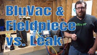 Leaking HVAC Evaporator Nitrogen and Vacuum Test | BluVac App vs Leak