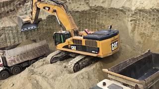 Cat 385C Excavator Loading Trucks - Labrianidis SA