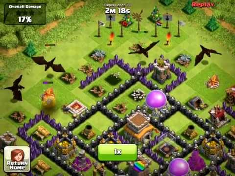 Clash of Clans [Defense] Jorge Yao style Attack - Lvl 3 Dragons & Lightning Spells