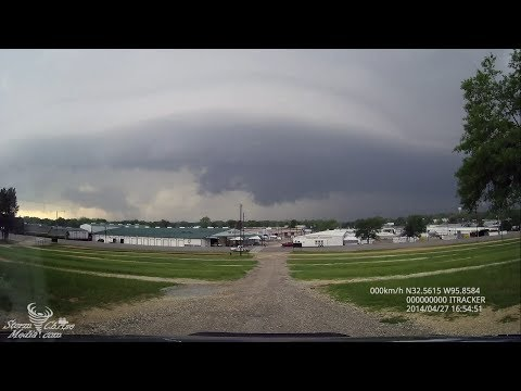 Supercell with Wall Cloud in Canton, TX April 27, 2014