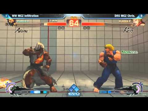 EVO 2K12 SSF4 AE 2012 Infiltration vs MCZ Chris