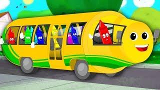 Wheels On The Bus   Bus Song   Nursery Rhymes For Kids   Baby Songs