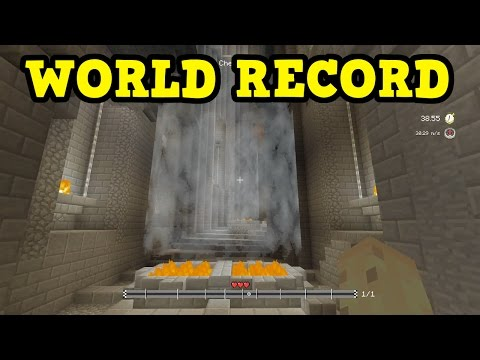 "Minecraft Xbox ""Glide"" Minigame WORLD RECORD STRATEGY"
