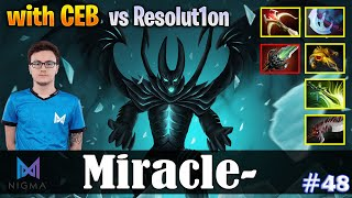 Miracle - Terrorblade Safelane | with CEB (DK) vs Resolut1on (Phoenix) | Dota 2 Pro MMR Gameplay #48