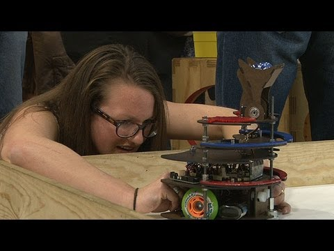 Student Robots Clash in Class Finale