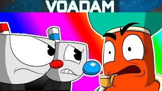 Before the Battle with Djimmi! (Cuphead Comic Dub #100) with Mugman! [VOAdam Dubs]