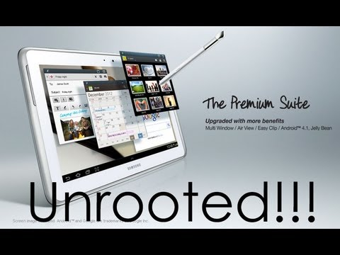 Galaxy Note 10.1 - How to UnRoot / Unbrick - Cursed4Eva.com