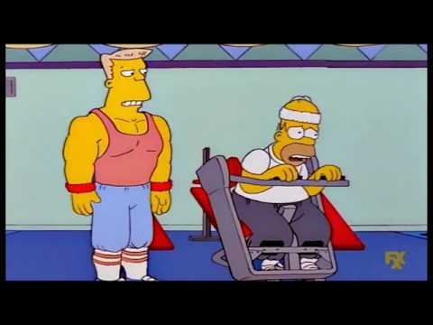 The Simpsons Homer slims and gets muscles Clip