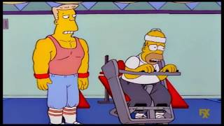 The Simpsons: Homer slims and gets muscles [Clip]