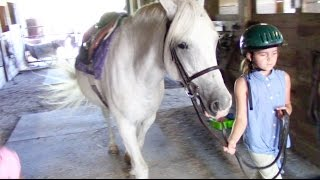 First Horseback Riding Lesson at a New Stable!
