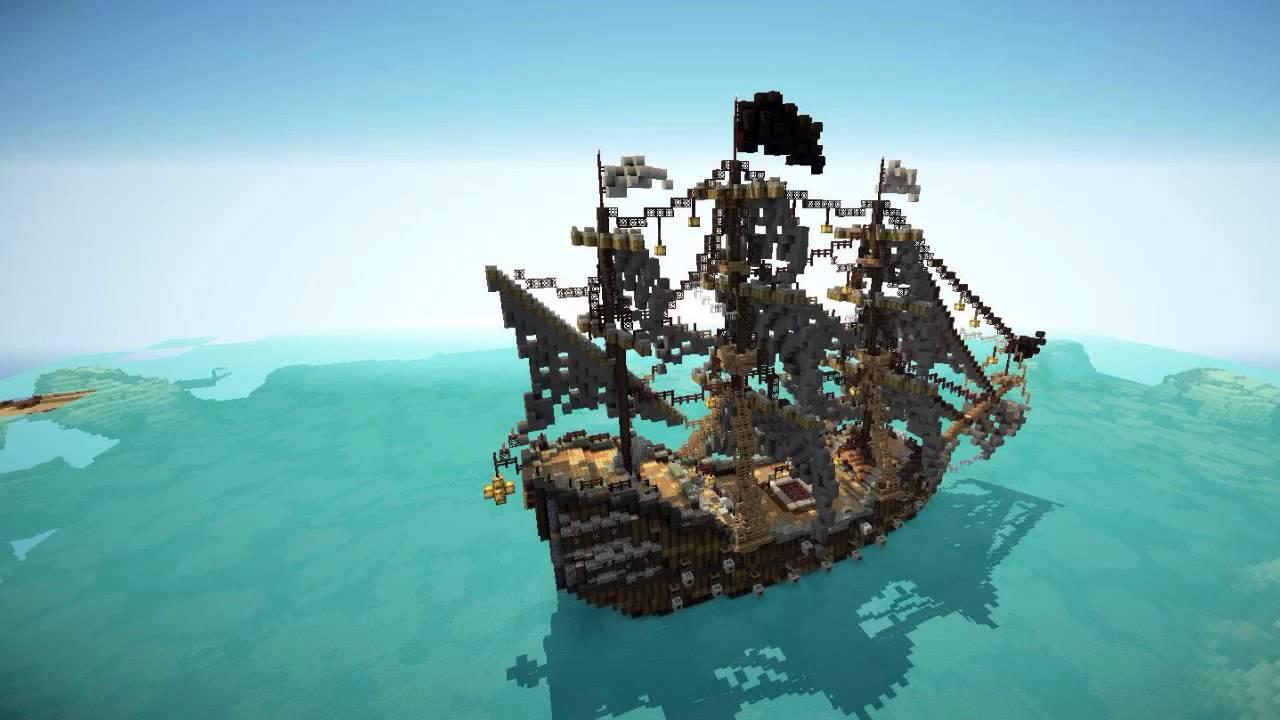 minecraft top 5 des plus beaux bateaux pirates 2 youtube. Black Bedroom Furniture Sets. Home Design Ideas