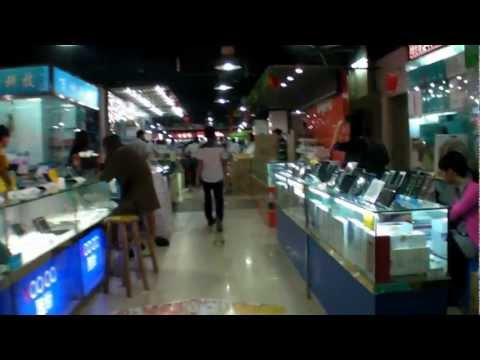 Walking through the Smartphone market in Huaqiangbei Shenzhen China