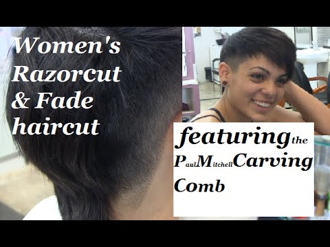 Women's Razor Cut & Fade haircut | Featuring the Paul Mitchell Carving Comb