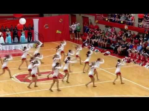 Ottawa Township High School Poms - Dance Mix Performed at the Homecoming Assembly - 9/26/14