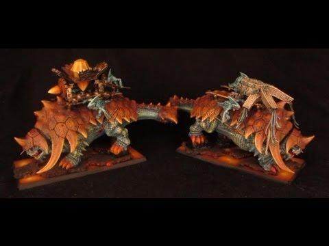 How to paint Lizardmen Bastiladon - Solar Engine + Ark of Sotek