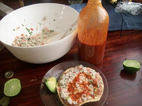 CEVICHE DE PESCADO - MARISCOS - receta familiar mexicana  -  lorenalara144