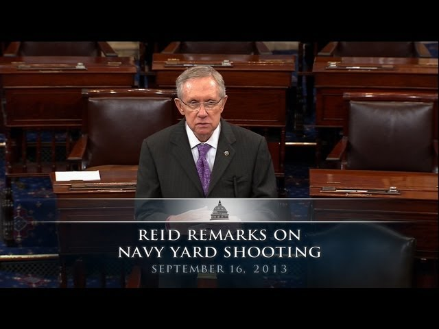 Reid Remarks on Navy Yard Shooting