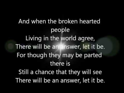The Beatles - Let It Be - The Beatles - Lyrics