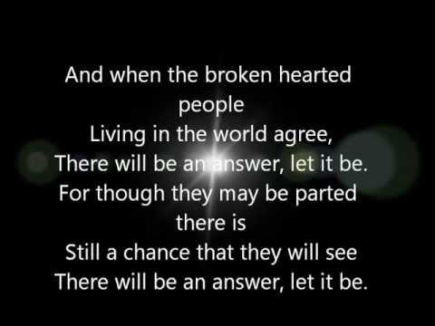 The Beatles - Let It Be Lyrics