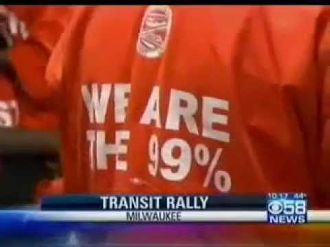 Milwaukee TV coverage Occupy National Day of Tranist Action