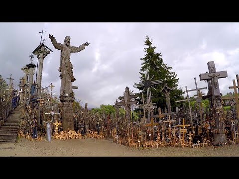 Mysterious Hill Of Crosses With Rainbow - Lithuania