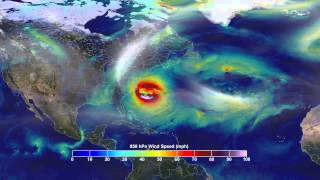 Superstorm Sandy's Track, Winds Intensity Visualized By Supercomputer | Video