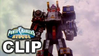 Power Rangers Lightspeed Rescue - Supertrain Megazord Debut ('Rising From Ashes' Episode)