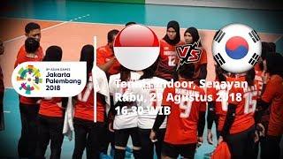 Jadwal Pertandingan Bola Voli Putri Asian Games 2018, Indonesia Vs Korea